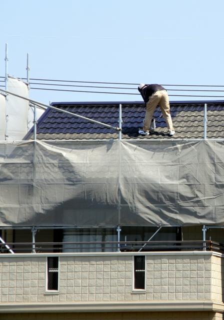 火災保険で屋根の工事